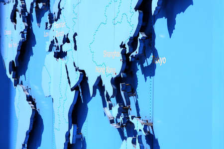 world map in blue Stock Photo - 9417037