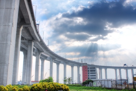 tollway: elevated express way at day time  Stock Photo