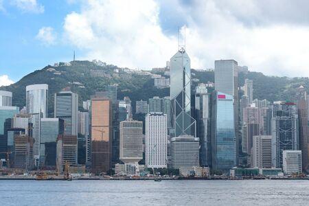 Hong Kong morning and blue sky photo