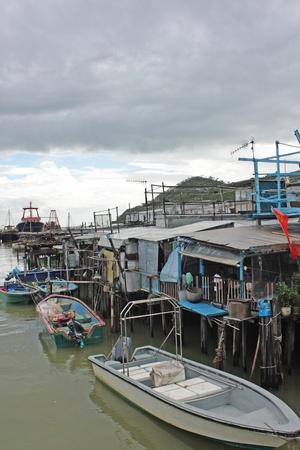 stilt house: Tai O fishing village with stilt house in Hong Kong