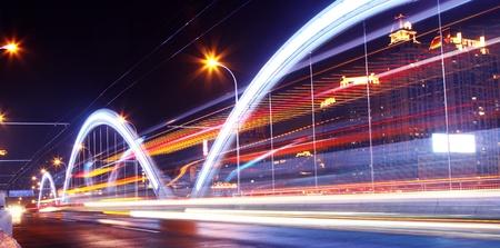 Modern urban landscape at night  photo