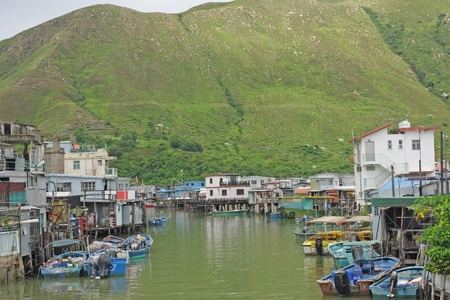 Tai O fishing village with stilt house in Hong Kong  photo