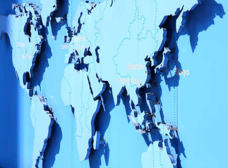 world map in blue  Stock Photo - 9503862
