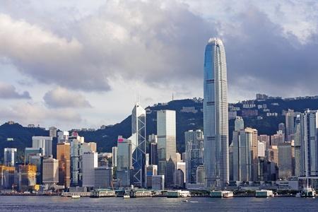 kong: Hong Kong skylines Stock Photo