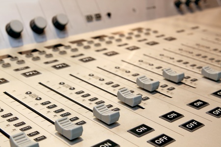 sound mixer with blurry background Stock Photo - 9725291