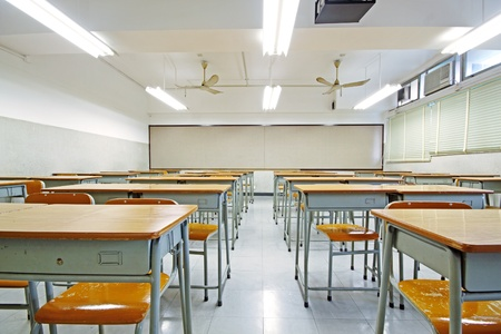 students in classroom: empty classroom