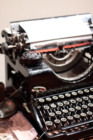 type writer: Antique type writer on table Stock Photo