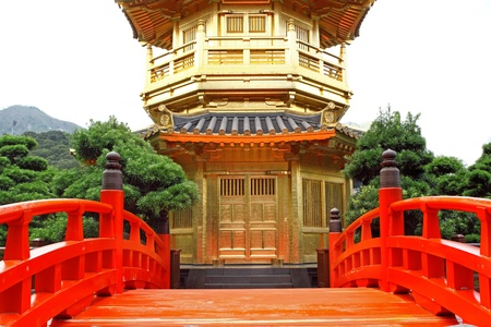 The Pavilion of Absolute Perfection in the Nan Lian Garden, Hong Kong.  photo