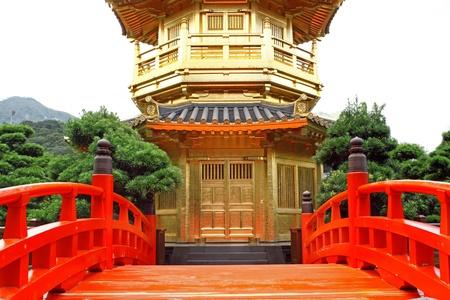 The Pavilion of Absolute Perfection in the Nan Lian Garden, Hong Kong.  photo