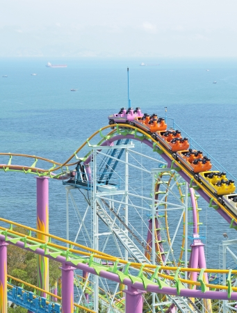 rollercoaster at day photo