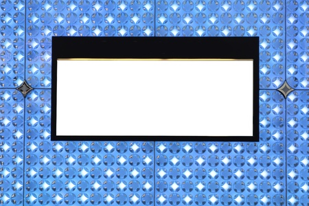 Blank billboard on wall and lighting background Stock Photo - 10173018