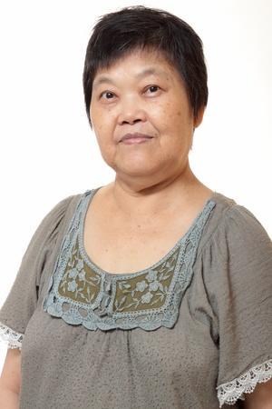 mujer china: Retrato de una anciana china de Asia
