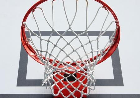 street shots: Basketball hoop close up at day