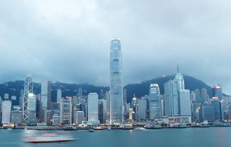 Magic hour of Victoria harbour, Hong Kong  photo