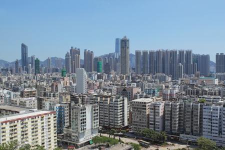hong kong downtown at day photo