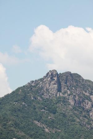 lions rock: hong kong lion mountain at day