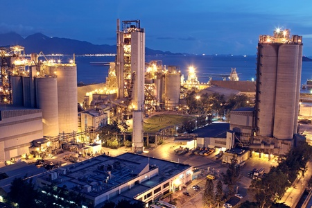 Cement Plant,Concrete or cement factory, heavy industry or construction industry.  Stock Photo - 10412809