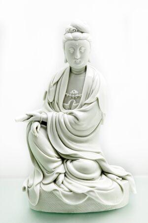 mercy: Guanyin buddha statue Stock Photo