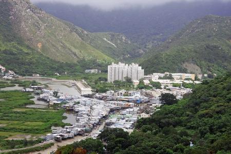 ramshackle: Tai O fishing village in Hong Kong  Stock Photo