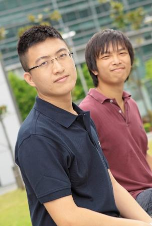 Portrait of two asia man photo