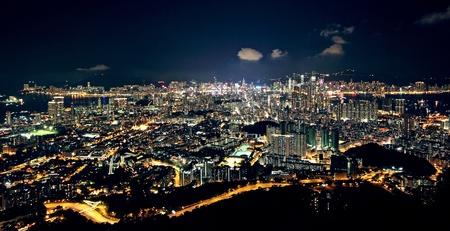 City midtown skyline at dark Stock Photo - 10460992