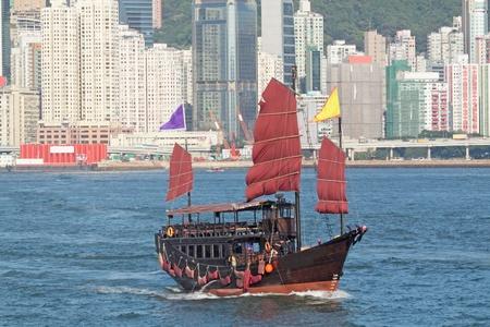 junk boat in hongkong Stock Photo - 10495544