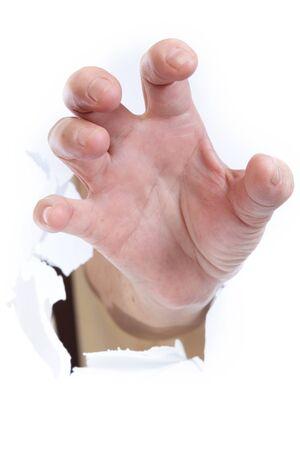 clawing: Mano attraverso la carta