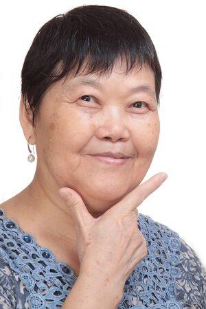 asia woman hand make correct sign - tick photo