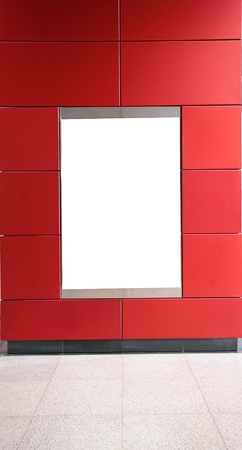 advertisement blank in a modern building  photo