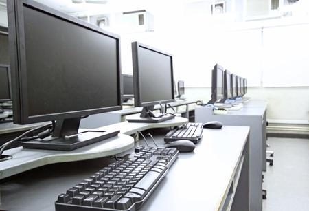 red informatica: sala de ordenadores Foto de archivo