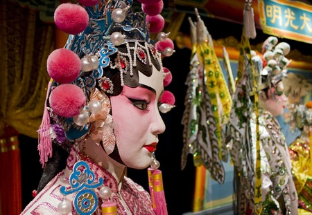 chinese opera: chinese opera dummy ,it is a toy,not real man