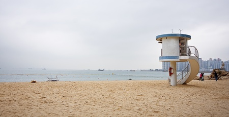 Pavilion in the beach photo