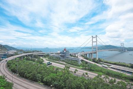 hong kong highway at day photo