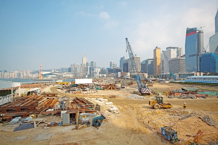 Construction Site in Hong Kong