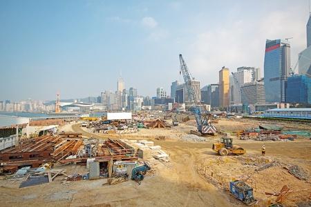 andamio: La construcci�n del sitio en Hong Kong