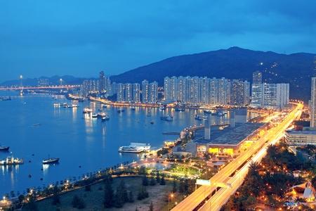 hora mágica en la ciudad centro de la ciudad, Hong Kong