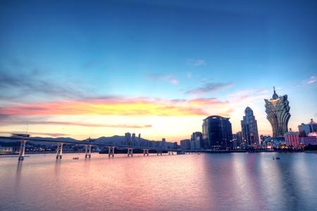 Macau in der Nacht  Lizenzfreie Bilder