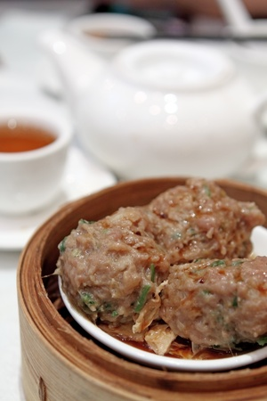 Meat balls is delicious Chinese food  photo