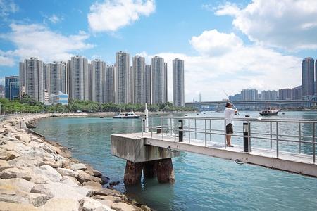 atlantic city: coast in the city  Stock Photo