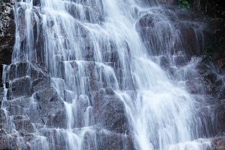 forest railroad: Close-up of waterfall  Stock Photo
