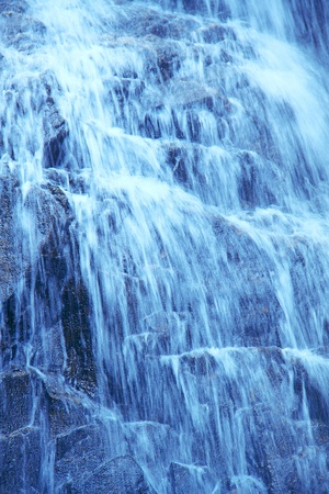 Close-up of waterfall  photo