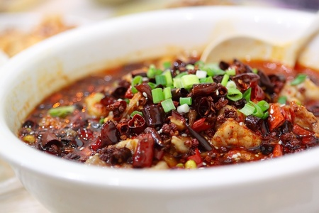 hot fish, chinese food Sichuan Cuisine 版權商用圖片