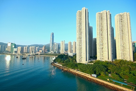 kong river: skylines of urban area at daytime