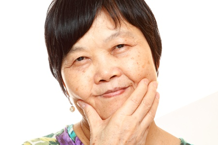Senior Asian with hand Stock Photo - 11481471