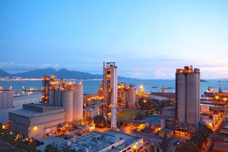 Zementwerk, Beton oder Zement Fabrik, Schwerindustrie oder Bauindustrie.