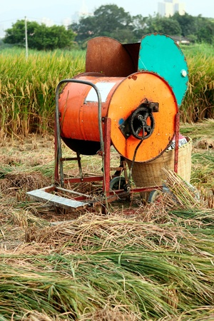 Vintage rice wood machine