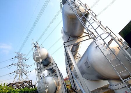 man nuts: gas container and power tower