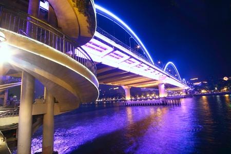expressway: bridge at night Editorial