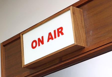show off: Illustration of an On Air sign Stock Photo