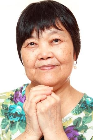 asian woman on white background Stock Photo - 12109234